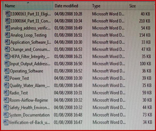 This image details all the Test Scripts that are preloaded to the Corporate QC Manual download.