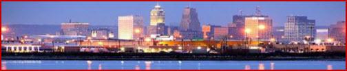 City skyline of validation Online creation.